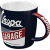 Vespa Garage Mug with/without a selection of 1950's, 60's or 1970's Retro Sweets